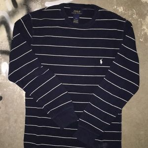 Polo LS Striped Knit